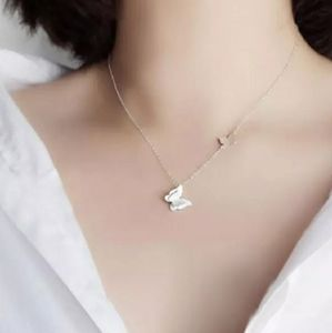 NEW 925 STERLING SILVER PLATED BUTTERFLY NECKLACE